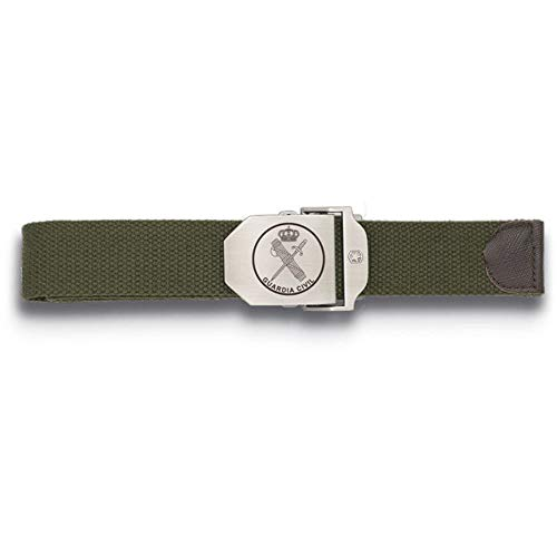 Tiendas LGP Albainox-Cinturòn Ajustable,130X3,9 cm. Verde Hebilla Metalica Guardia Civil