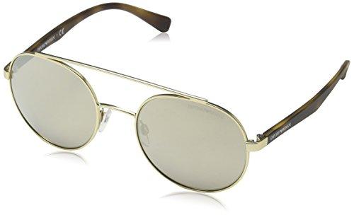 Emporio Armani Herren 0ea2051 Sonnenbrille, Gold (Matte Pale Gold), 53