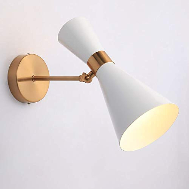 LED-Modernen, minimalistischen Eiserne Wand Lampe, Wohnzimmer Schlafzimmer Bett Gang Badezimmer Badezimmer kreative Wand Lampe Beleuchtung Lampen Laternen (Farbe  wei)