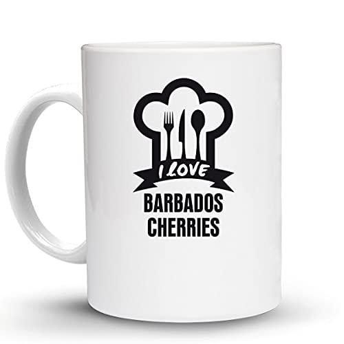 Press Fans - I LOVE BARBADOS CHERRIES 11 Oz Ceramic Coffee Mug, y55
