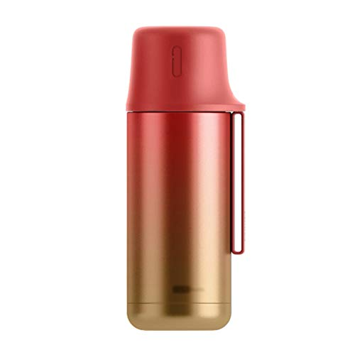 Sky Clound Reisetasse Kaffee Tee Vakuumisolierte Edelstahl-Kaffeetasse Auslaufsichere Kaffeetasse Wiederverwendbare doppelte Vakuum-Kaffeetasse Deluxe Heat Reusable Thermoskanne (Color : D)