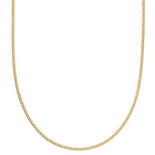 [フェアリーカレット] 24金ネックレス K24 2面喜平チェーン 日本製 純金 検定印 5g 45cm引き輪
