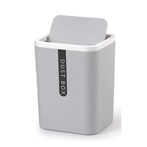 OUMIFA Papeleras Creative Small Win Bin Desktop Basura Cesta de la Mesa de la casa Suministros de Oficina de plástico Basura Can Dustbin Dries Barrel Box Bote de Basura Rectangular (Color : B)