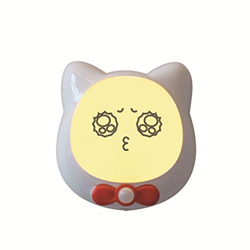 Kattenpatroon led-nachtlampje schert oplaadbare PIR-bewegingssensor voor slaapkamer, hal, keuken, badkamer, trap