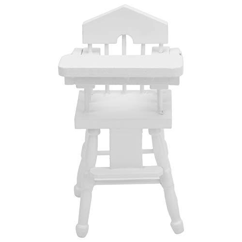 Zerodis Puppenhaus Stuhl, Maßstab 1:12 Mini Stuhl Modell Puppenhaus Spielhaus Zubehör Baby Esszimmerstühle Dekoration Handwerk Geschenk