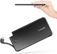 Luxtude Portable Charger for iPhone, Apple Certified Power Bank with Lightning Cable, 5000mAh Ultra Slim Fast Charging External Battery Pack for iPhone 6/6S/6S Plus/7/7 Plus/8/8 Plus/X/XR/XS/11/11 Pro