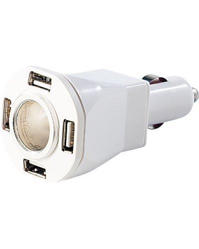 REVOLT 12 V Verteiler: 5-Fach Kfz-Verteiler & Ladestation mit 4X USB & 1x 12V (Adapter Zigarettenanzünder)
