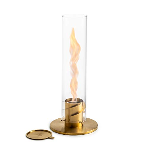 Höfats - Spin - Bioethanol Fireplace for Indoor and Outdoor Table Fire, Lantern and Garden Torch Stainless Steel
