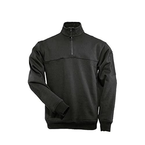 5.11 Tactical Job Shirt 1/4 Zip,Black,X-Large