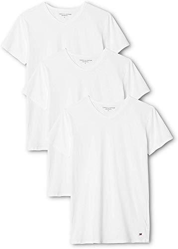 Tommy Hilfiger Herren Vn Tee ss 3 Pack Premium Essentials Unterhemd, Weiß (White 100), XXL (3er Pack)