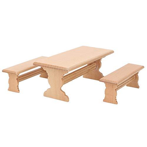 Puppenhaus Tisch, 1:12 Miniatur Tisch Stuhl Set Puppenhaus Zubehör Küche Gartenmöbel Spielzeug