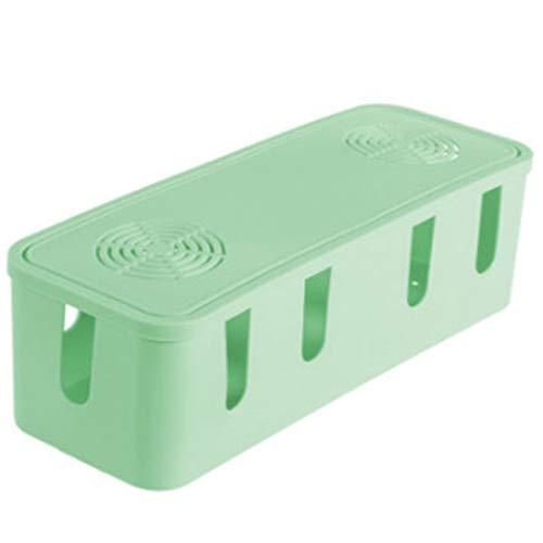 Caja para Cables Caja de almacenamiento de alambre Cable de alimentación Enchufe en Desktop Caja de acabado Caja de administración de cables Caja de almacenamiento de placa de enchufe ampliado Cable T