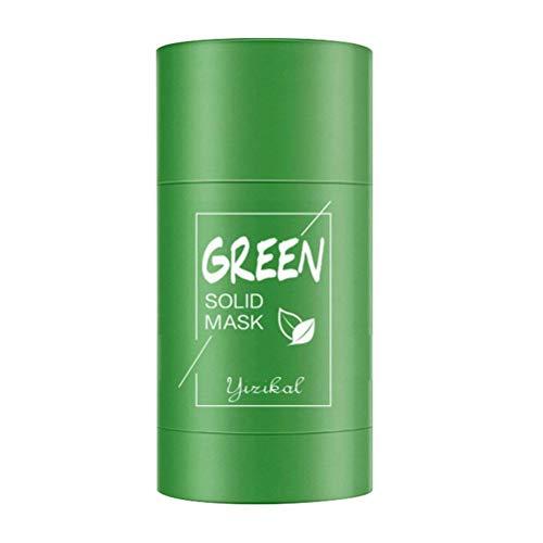Nuryme Mascarilla Facial de té Verde, mascarilla de Arcilla purificante Mascarilla Facial de té Verde sólido Fino Reducir los poros de la Cara y el Cuerpo