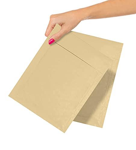 ABC Pack of 25 Kraft Padded Bubble Mailers 6.5 x 9 Natural Brown Kraft Bubble Envelopes 6 1/2 x 9 Peel and Seal Envelopes Bulk Shipping Bags for Mailing Packing Moving, Wholesale Price