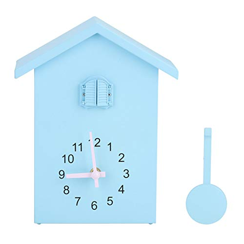 Linel Reloj - Reloj de Pared Hermoso de Estilo único a Tiempo Reloj de péndulo con Alarma con decoración de Aves Decoración del hogar