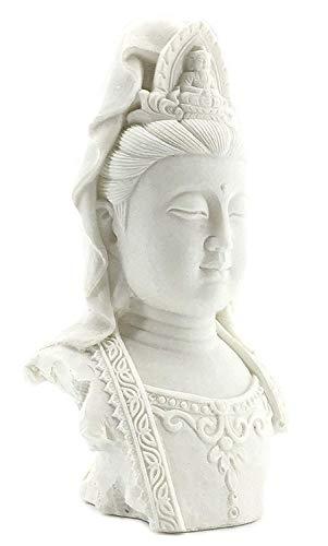 Bellaa 23750 Buddha Statue Bust Quan Yin Head Kwan Yin Kuanyin