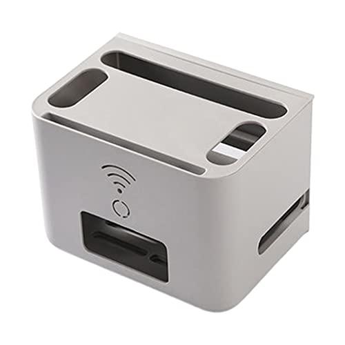 Caja de almacenamiento de enrutador Wifi de escritorio con cajón de doble...