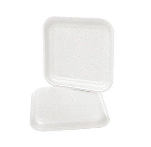 CKF 1SW, 1S White Foam Meat Trays, Disposable Standard Supermarket Meat Poultry Frozen Food Trays, 125-Piece Bundle