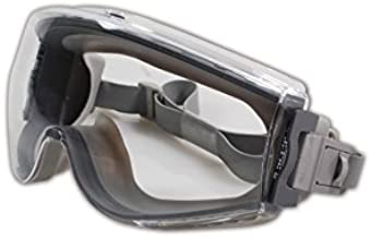 Uvex Stealth Safety Goggles with Clear Uvextreme Anti-Fog Lens, Gray Body & Neoprene Headband (S3960C)