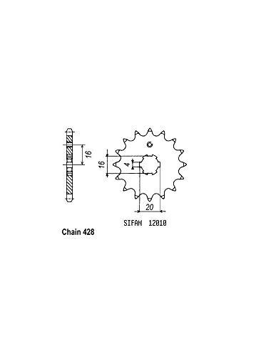 Pignon dt 80 lc2 85-91 - Divers 12010CZ15
