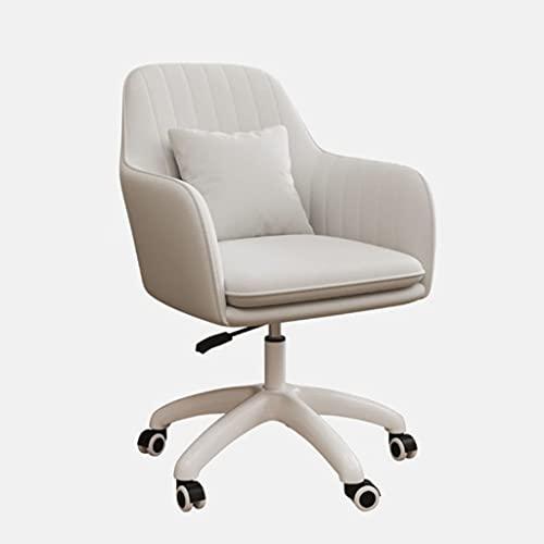 JGHGO Sedia per Computer Sedie per Ufficio da casa Moderna semplicità Sedia da Gioco Moda Casual Sedia da scrivania Camera da Letto Schienale Poltrona per Computer (Color : White)