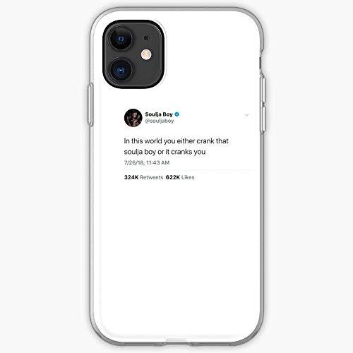Compatibile con iPhone 12/11 Pro Max 12 mini SE X/XS Max XR 8 7 6 6s Plus Custodie That Retweet Vsco Crank Trendy Twitter Likes Tweet Soulja Boy Custodie per Telefoni Cover