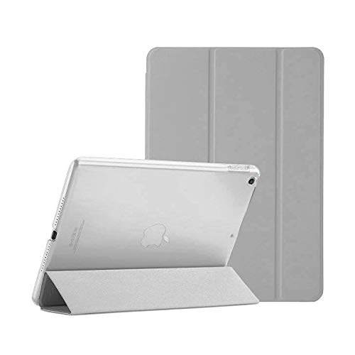 Smart Magnetic Case for Apple iPad Air (1st Generation) 2013 A1474 A1475 A1476 Stand Cover with Automatic Wake/Sleep (Grey)