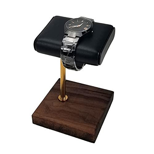 FSSQYLLX Soporte de exhibición de la Pulsera del Reloj de mármol de la Torre de la joyería Soporte de la joyería del Cuero de la PU del Negro