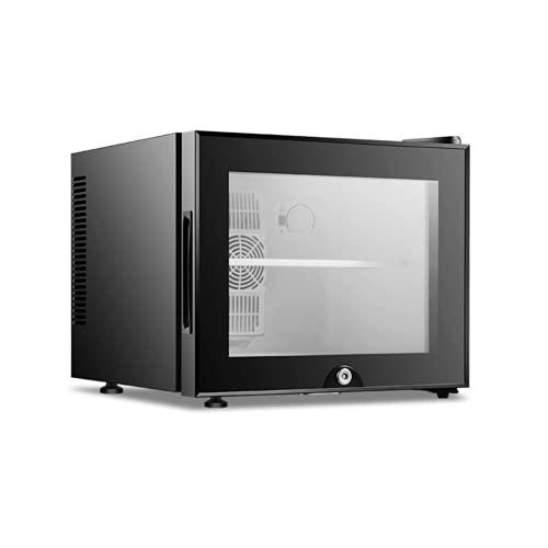 20L Mini Refrigerador, Refrigerador, Refrigerador Temperatura Ajustable Clase Silenciosa, Habitaciones De Hotel O Dormitorios Puerta De Vidrio Transparente