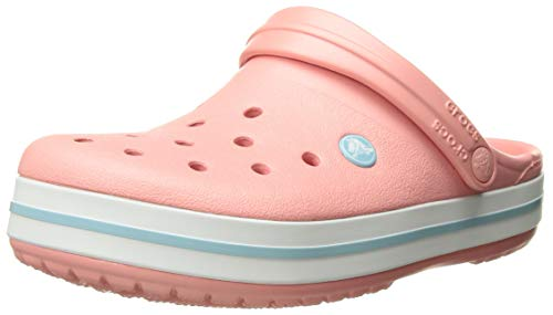 Crocs Crocband Clog, Melon/Ice Blue, 9 US Men/ 11 US Women M US