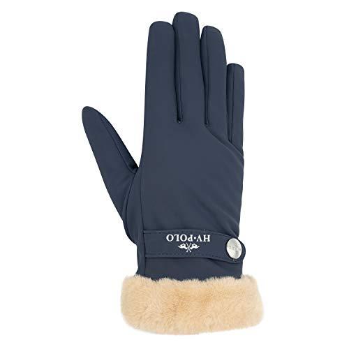 HV Polo Handschuhe Garnet Navy mit Kunstfell, Größe:L
