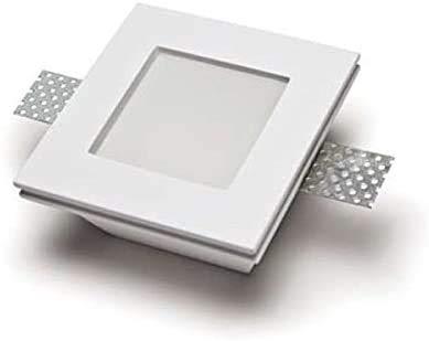 Porte spot en plâtre céramique à démontée PF4 avec verre plexiglas, lot de 10 pièces + ressort blocage ampoule