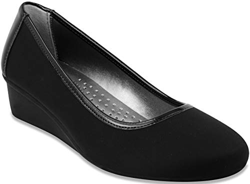 LONDON FOG Chester Neoprene Dress Shoe Black/Neoprene 6