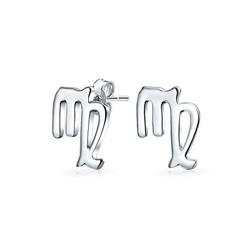 Kleine Einfache Jungfrau Astrologie Horoskop Sternzeichen Ohrstecker Für Damen Sterling Silber 12 Geburt Melden