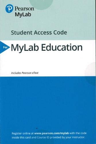 MyLab Education with Enhanced Pearson eText -- Access Card -- for Classroom Management for Middle and High School Teachers (10th Edition)