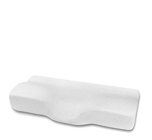 WWWL Almohada para Dormir Lateral Memory Foam Pillow Neck Gel Slow-Rebound Cervical Orthopedic Cushion Neck Shoulders Relax For Deep-Sleeping Bedding 60x35x12cm WithPillowcase