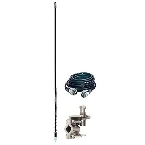 ARIES 10813 3` Foot CB Radio Antenna KIT 500 WATT Mirror Mount and Coax