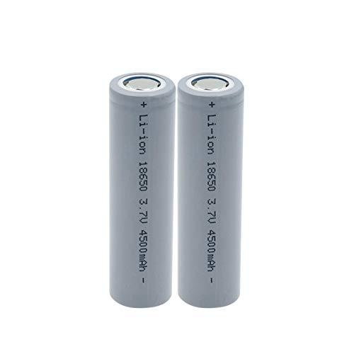 HTRN Batería De Litio Li-Ion De 3.7v 4500mah 18650, BateríAs Recargables De Alta Corriente para La Linterna 2PCS