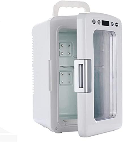 Nevera Portátil,Nevera Termoeléctrica Nevera pequeña 12liter portátil AC/DC Refrigerador eléctrico y calentador, control de temperatura digital, mudo, adecuado for dormitorio, oficina, dormitorio, ref
