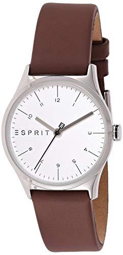 Esprit Damen Analog Quarz Uhr mit Leder Armband ES1L034L0025