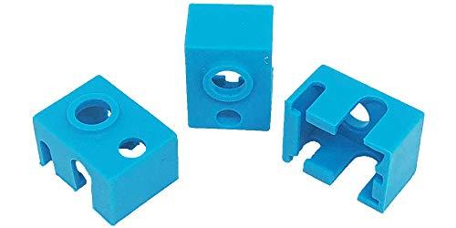 3Wthings 3 Stück 3D Drucker Silikon Socke E3D V6 PT100 Hotend/Heizblock, Blau