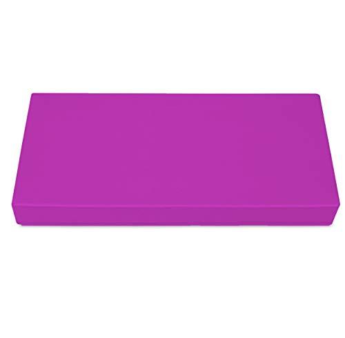 SuperKissen24. Cojín Colchón para Palet Sofá Banco 80x40 cm Asiento Cómodo e Impermeable para Muebles Terazza Exterior - Fucsia