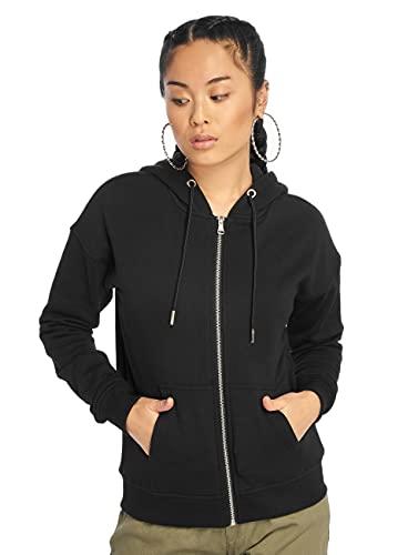 Urban Classics Damen Classic Zip Hoody Strickjacke, Schwarz (Black 00007), X-Large