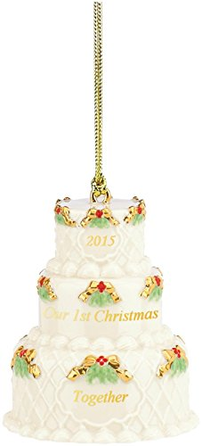 Lenox 2015 Our First Christmas Together, Cake Ornament