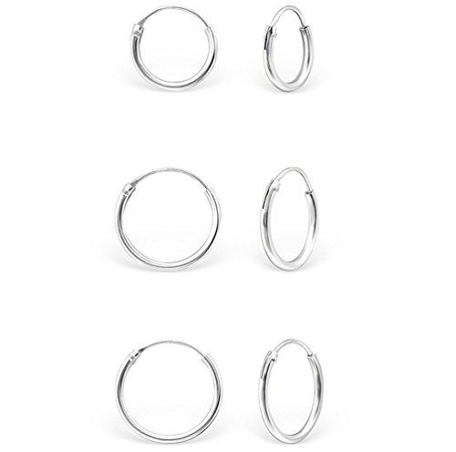 DTP Silver - Conjunto 3 pares Pendientes