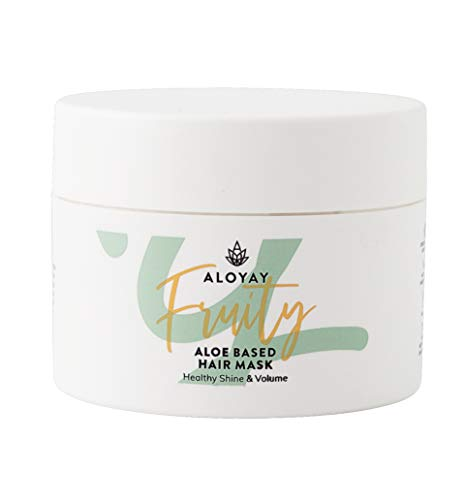 ALOYAY ® Fruity Bio Haarmaske Damen - Silikonfrei - Sulfatfrei - Aloe Vera - Feuchtigkeit - 100% Vegan - Tierversuchsfrei - Made In Germany (100 ml)