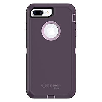 OtterBox DEFENDER SERIES Case for iPhone 8 Plus & iPhone 7 Plus (ONLY) - Retail Packaging - PURPLE NEBULA (WINSOME ORCHID/NIGHT PURPLE)