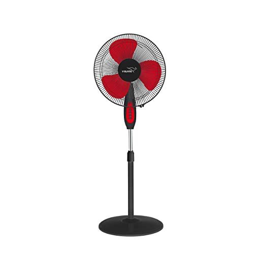 V-Guard Esfera STS Pedastal Fan with 3 speed setting and 1350 RPM (Red Black)