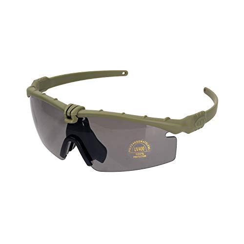 FOCUHUNTER oogbescherming – sportbril voor heren, antimist-fietsbrillen, veiligheidsbril, veiligheidsbril, anti-UV400-veiligheidsbril voor fietsen, wandelen en schieten Sport groen