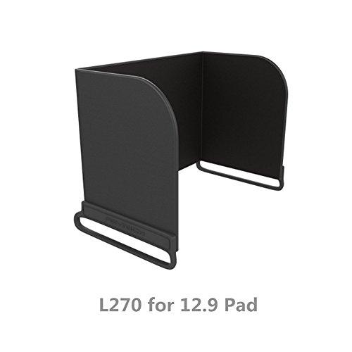 Hensych Fernsteuerpult Telefon Monitor Sonnenhaube Sonnenschutz Abdeckhaube Smartphone Tablet iPad Sonnenschutz für DJI Mavic PRO / Inspire / Phantom 3 4 M600 OSMO (L270 for 12.9 Pad, Schwarz)